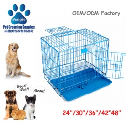 Metal Double-Door Kennel Collapsible Easy Install