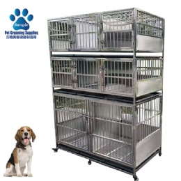 Economic Vet  Line Veterinary& Grooming Stainless Steel Cage Bank