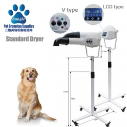 Stand dryers for dog grooming
